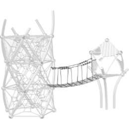 DNA Towers Anbaulement Übergangsbrücke